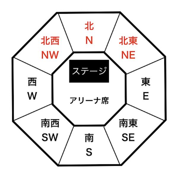 Budokan seat map