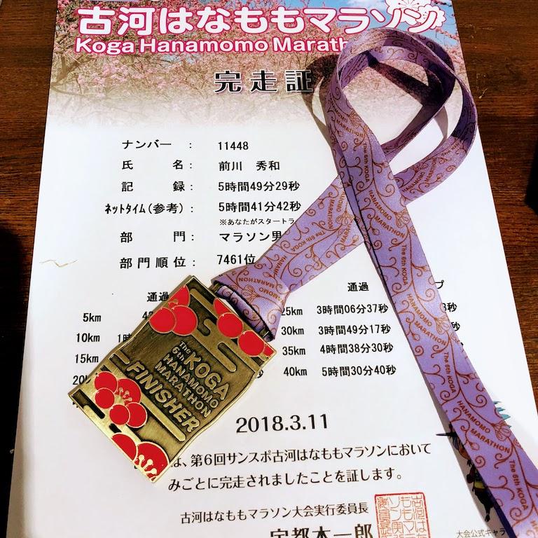 Hanamomo marathon 2