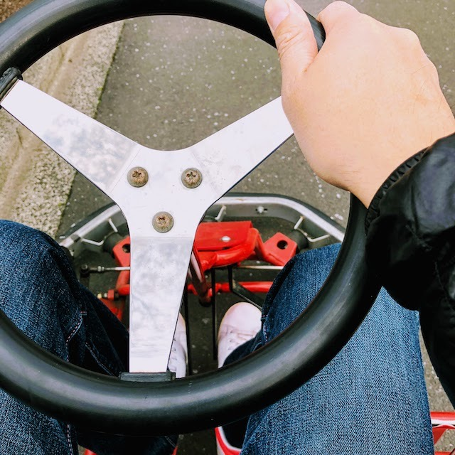 Cart steering wheel