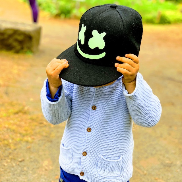 Marshmello cap boy